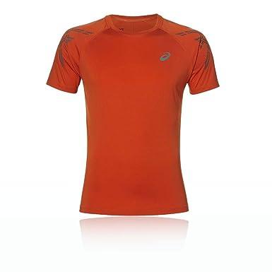 Details zu Original Asics Laufshirt T shirt Orange Rot Herren Größe XL