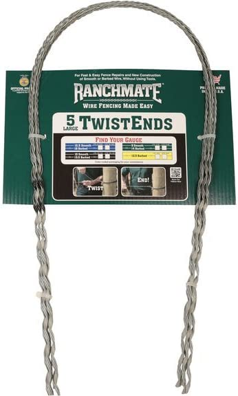 Ranchmate LTE-125D Yellow 12.5 Gauge Barbed Large Twistend Contractor Pack of 50