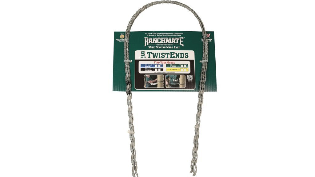 Ranchmate LTE-155-10C Black 15.5 Barbed /& 10 Gauge Smooth Large Twistend Pack of 5