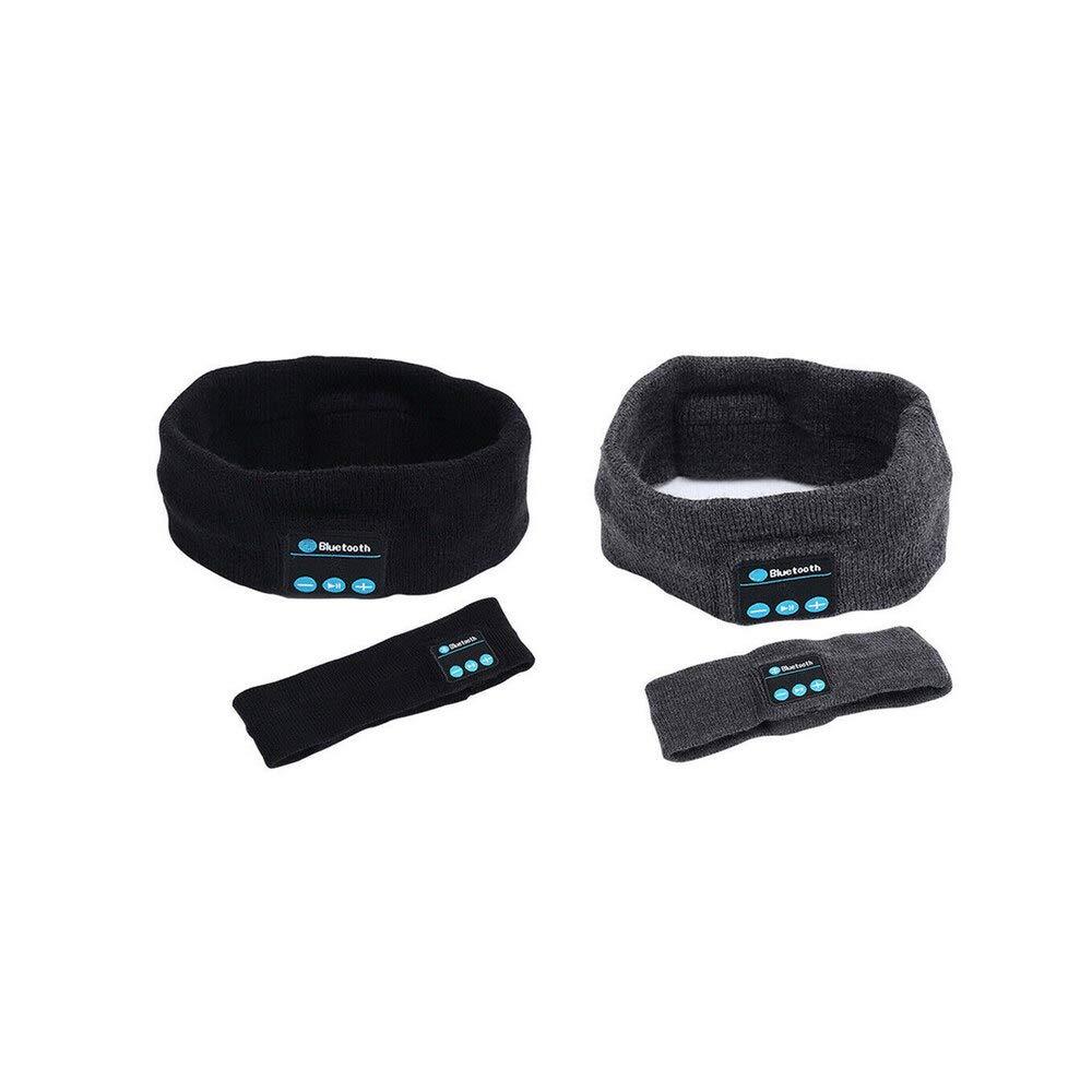 Arilove Bluetooth Wireless Over-Ear Headphones Sleeping Running Music Headband (Black, OneSize)