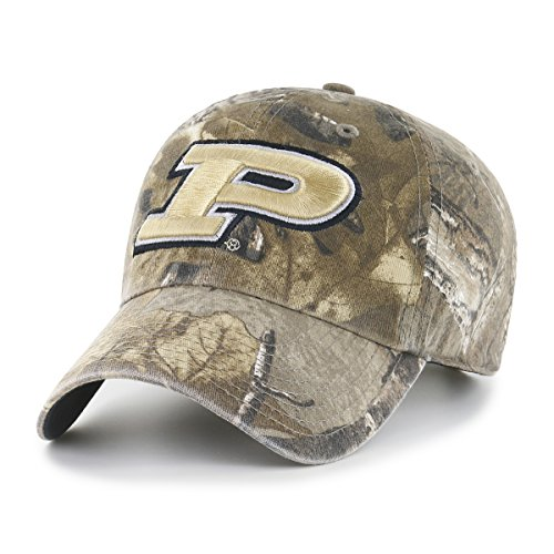 NCAA Purdue Boilermakers Realtree OTS Challenger Adjustable Hat, Realtree Camo, One Size