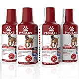 Proud K9 Liquid Glucosamine Hip and Joint Supplement for Dogs, 32 oz. (4 Pack)