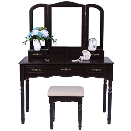Amazon Com Ailove White Dressing Table Chair Makeup Desk Stool