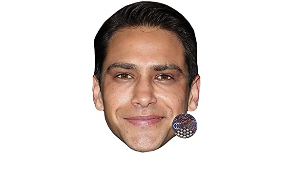 Card Face and Fancy Dress Mask Luke Pasqualino Celebrity Mask