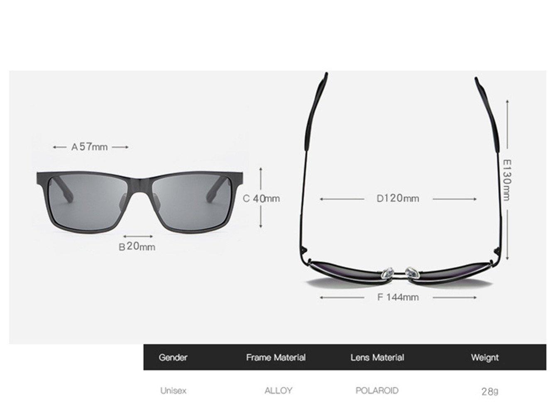 RFVBNM Las gafas de sol de los hombres de moda de aluminio-magnesio color brillante polarizador polarizador pesca del conductor del espejo Espejismo al aire ...