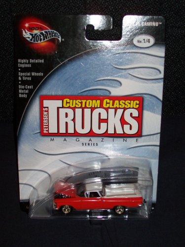 Hot Wheels Die Cast '59 Orange and White El Camino. Prefered 2002 Petersen's Custom Classic Trucks Magazine Series No. 1 of 4