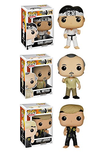 Funko The Karate Kid POP! Movies Collectors Set: Daniel Larusso, Mr. Miyagi, Johnny Lawrence Action Figure