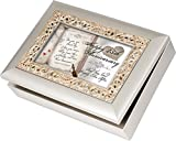 Happy 25th Anniversary Cottage Garden Champagne Silver Silver Jewelry Music Box - Plays Song You Light Up My Life