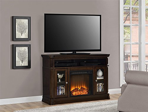 ameriwood home brooklyn electric fireplace tv console for tvs up to 50 espress buy online in. Black Bedroom Furniture Sets. Home Design Ideas