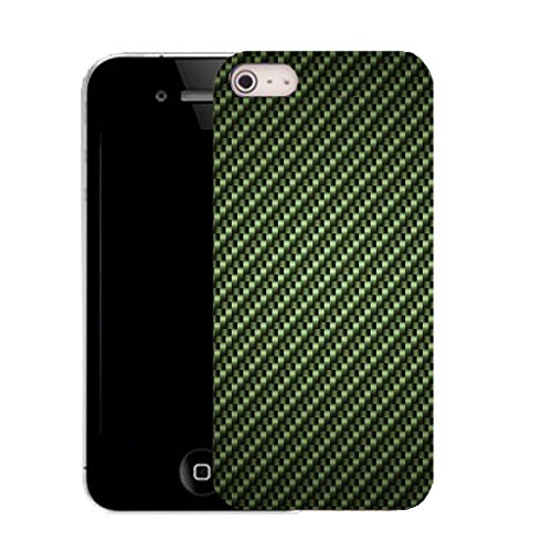 Mobile Case Mate IPhone 4 clip on Silicone Coque couverture case cover Pare-chocs + STYLET - green equilateral pattern (SILICON)