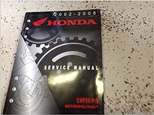 2006 honda metropolitan owners manual