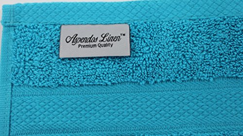 100% Pure Organic Luxury Hotel & Spa,Premium Quality. 700 GSM Extra Large towel Last long Super Soft, Plush and Ultra Absorbent Quick dry 35 x 70-Inch (Bath Sheet- Set of 2, Caribbean Aqua) by Aspendos Linen (Image #1)