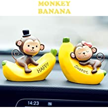 Keklle Creative Cute Monkeys Love Dashboard Decorations Car Home Office Ornaments Best Birthday Holiday Gift (Monkey Banana)