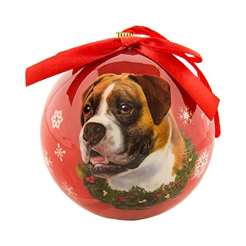 Terrier Dog Christmas Tree Ornament (Christmas Ornaments Boxer Pet Design Tree Balls 3in New Year Round ball Decoration Xmas Collection Gift Memorial )