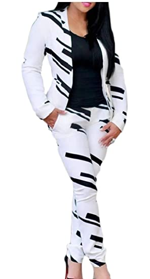 BingSai - Chándal - para Mujer Blanco Blanco 40: Amazon.es: Ropa y ...