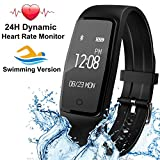 Fitness Tracker - Activity Tracker with Heart Rate Monitor 24H IP67 Waterproof Smart Wristband Watch with Music Camera Control Pedometer Sleep Monitoring Call Message for iOS and Android Phones
