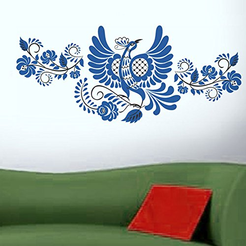 Decals Design 'Flying Peacock' Wall Sticker (PVC Vinyl, 45 cm x 60 cm)