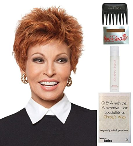 Bundle - 5 items: Power by Raquel Welch Wig, 15 Page Christy's Wigs Q & A Booklet, Wig Shampoo, Wig Cap & Wide Tooth Comb (Color Selected: R21T) by Raquel Welch & Christy's Wigs
