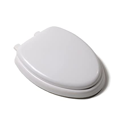 Trendy Heavy Duty Premium White Soft Padded Elongated Toilet Seat