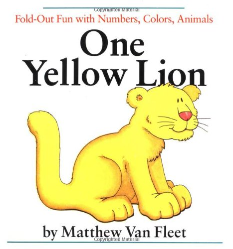 One Yellow Lion  Fold Out Fun With Numbers  Colors  Animals
