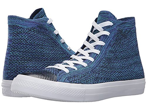 866cc3aef923 Image Unavailable. Image not available for. Color  Converse Chuck Taylorr  All Starr X Nike Flyknit Hi True Indigo Chlorine Blue Shoes