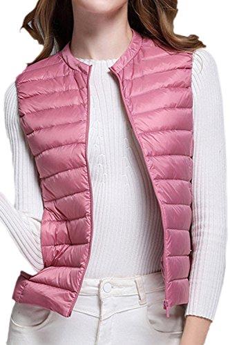 Abajo Outcoat Chaleco Mujer Chaqueta Pink Casual Pato Sevozimda Blanco Invierno Acolchado Ultralight La Cremallera De xOCYZvqwTF
