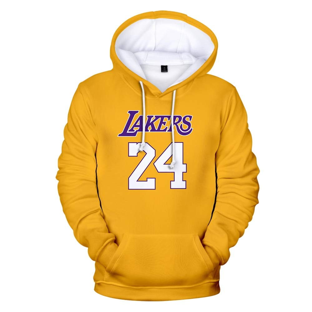 Lakers Custom Personalized Name /& Number Adult Jersey Hooded Sweatshirt