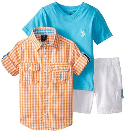 U.S. Polo Assn. Little Boys' T-Shirt Woven and Cargo Short Set