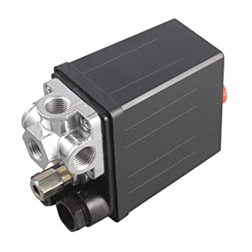 Erduo Heavy Duty 240V 16A Control automático de Carga/Descarga automática Compresor de Aire Válvula de Control del Interruptor de presión 90 PSI -120 PSI: ...