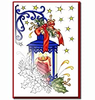 Christmas Cards For Coloring By Adults And Childre