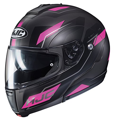 HJC Unisex-Adult Modular CL-MAX III Flow Helmet Black/Pink Medium