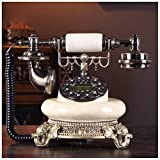 Telephones Hands-Free Backlit Telephone Retro Home Caller Display Mechanical Electronic Double Ring Office Wired Fixed Antique Landline Retro Phone (Size : B)