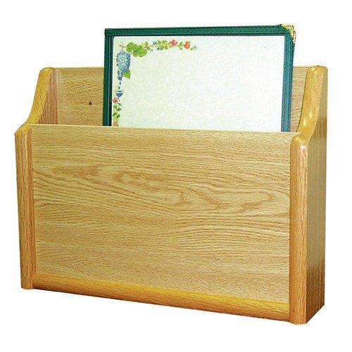 (Wooden Mallet CH15-1 Menu Rack - 1 Pocket Light Oak, 15