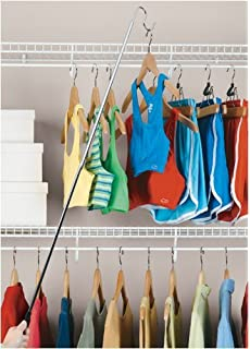 Bon Organize It All Easy To Reach Hook Closet Hanger With Non Slip Hand Grip