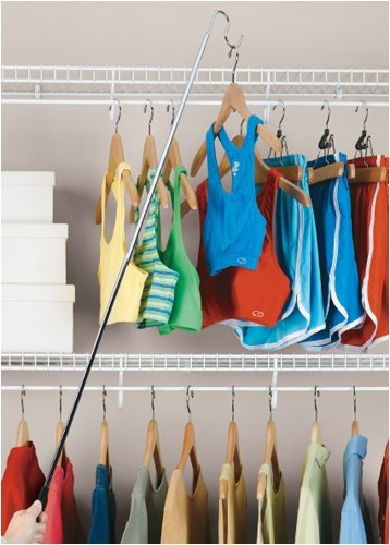 - Organize It All Easy to Reach Hook Closet Hanger with Non Slip Hand Grip
