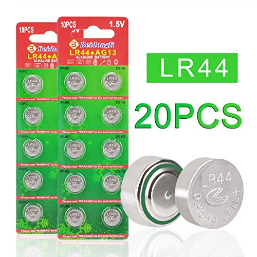 Beidongli Brand New 20 Pack AG13 LR44 357 303 SR44 Battery 1.5V Button Coin Cell Batteries