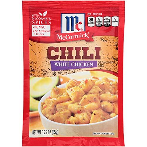 McCormick White Chicken Chili Seasoning Mix 125 oz