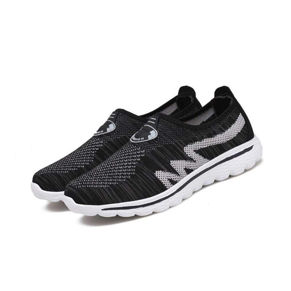 HhGold Lässige Sportschuhe Damen Turnschuhe Fliegende Linie Stricken Set Füße Liebhaber Schuhe Sommer Leichte Atmungsaktive Einzelne Schuhe (Farbe   B Größe   43) (Farbe   C Größe   42)
