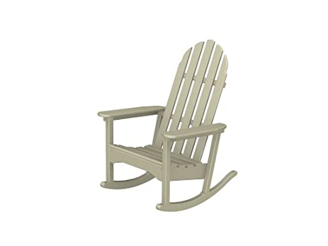 amazon com recycled plastic adirondack rocking chair garden