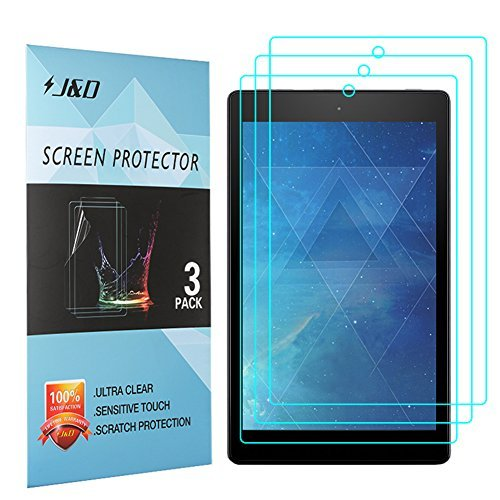 [3-Pack] All-New Fire 7 2017 Screen Protector, J&D Premium HD Clear Film Shield Screen Protector for All-New Fire 7 2017/ Fire 7 2016/All-New Fire 7 Kids Edition J&D Tech 4328653616