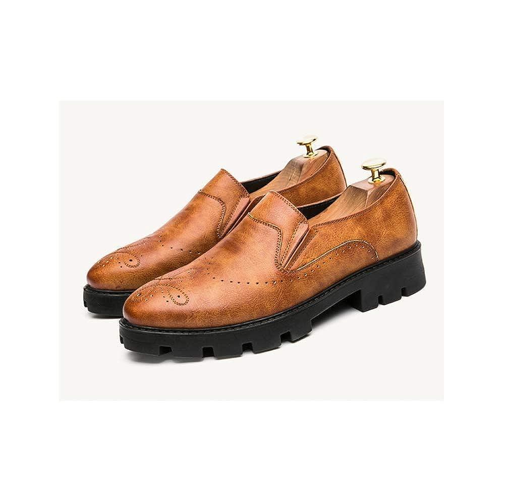 LYZGF Hombres Primavera Y Otoño Otoño Otoño Negocios Ocio Moda Transpirable Código De Vestimenta Zapatos De Cuero 10b204