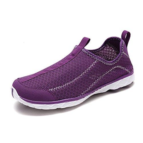 DREAM PAIRS Women's 1610042-W Purple Lt.Purple Athletic Slip On Water Shoes Size 11 M US