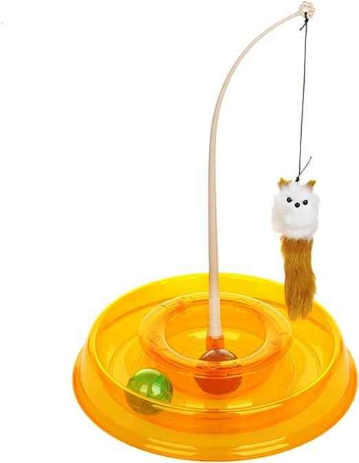 Danigrefinb Juguete Redondo Interactivo para Gatos, Juguete Giratorio para Gatito, Juego de Mesa giratoria para Mascotas, Suministros para Gatos y Mascotas: Amazon.es: Productos para mascotas