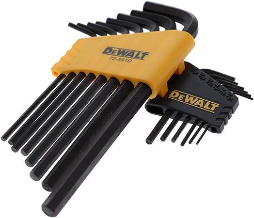 Genuine OEM DeWalt Hex Set key Tool Kit SAE Standard PLUS Metric 28pc 2 Sets NEW