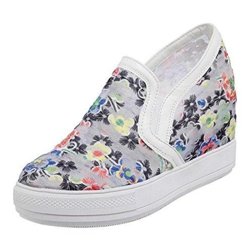 KemeKiss Sneakers Women Fashion Heel Black Wedge vvfSqg1Uw