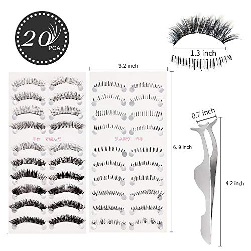 1b2853a2210 Teenitor Anime Eyelashes, 20 Pair 20 Desgin Japanese Cosplay - Import It All