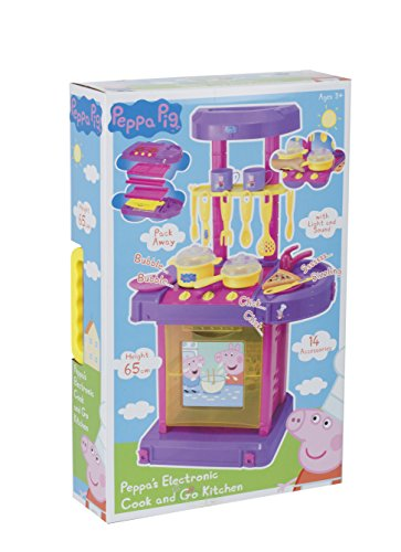 Peppa pig cook and go kitchen playset toystore for Kitchen set toy kingdom