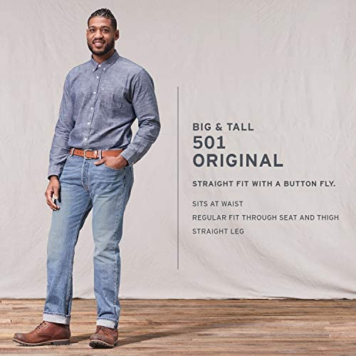 Levi's Men's Big and Tall 501 Original Fit Jean, Optic White, 40W x 38L