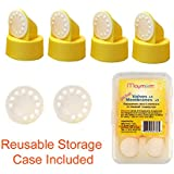 Replacement Valve and Membrane for Medela Breastpumps (Swing, Lactina, Pump in Style), 4x Valves/6x Membranes, Part #87089; Repaces Medela Valve and Medela Membrane