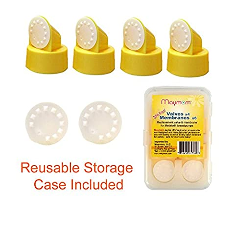 Replacement Valve and Membrane for Medela Breastpumps (Swing, Lactina, Pump in Style), 4x Valves/6x Membranes, Part #87089; Repaces Medela Valve and Medela (Symphony Membrane)
